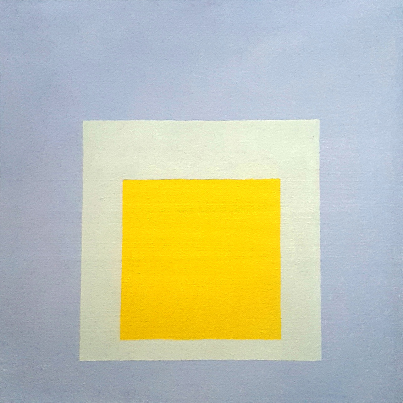 Josef Albers, Study for Homage to the Square: Centered Yellow, 1964 © VG Bild-Kunst, Bonn 2019