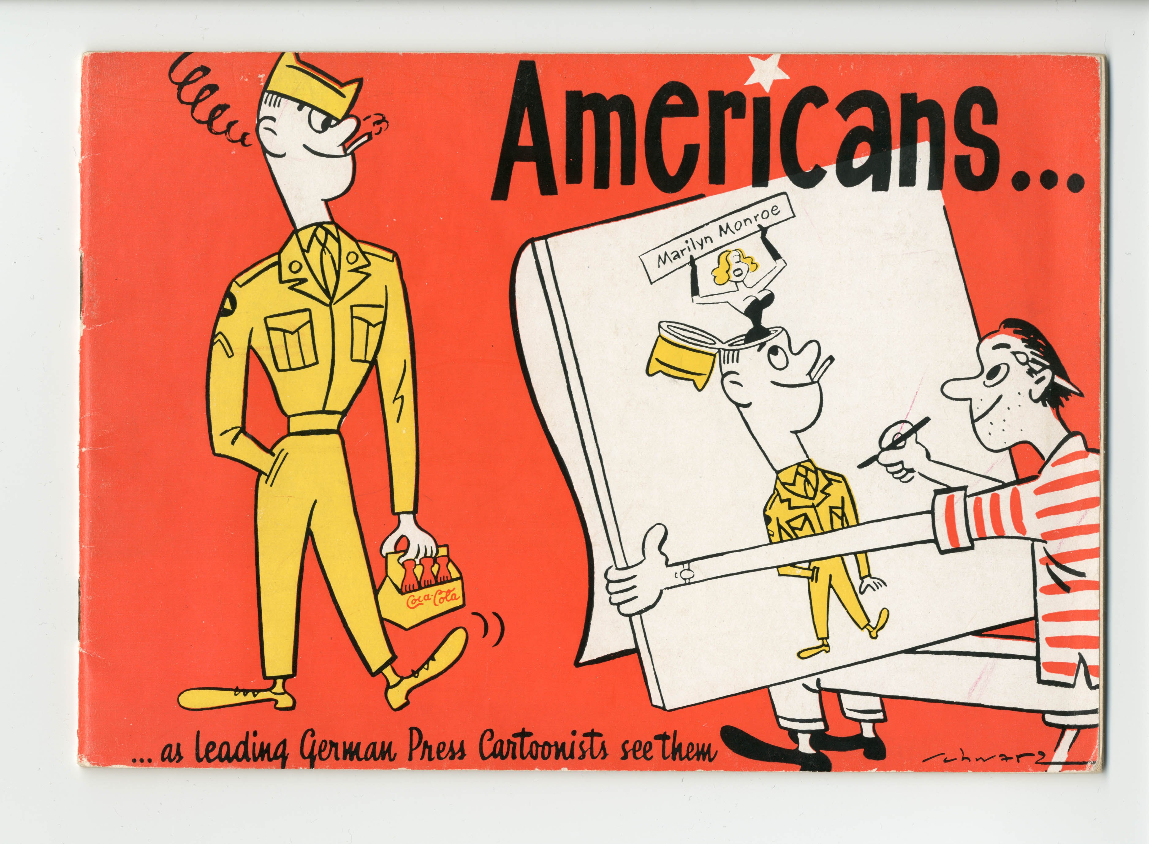 """Americans… As leading German Press Cartoonists see them"" © docu center ramstein (dcr)"